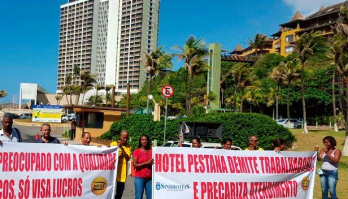 Hotel Pestana afirma que medida é temporária e comum em períodos de menor ocupação. Foto: Divulgação/Sindhotéis.