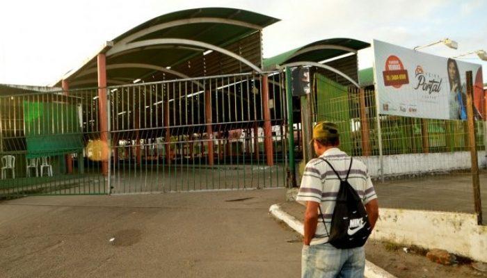 Portões fechados no Terminal Central de Ônibus. Foto: Ed Santos/Acorda Cidade.