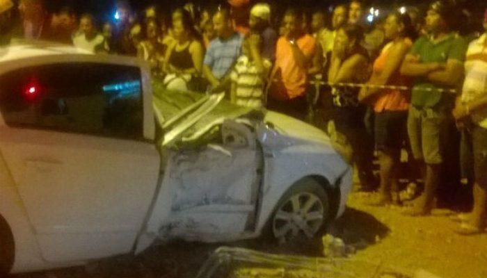 Acidente ocorreu na altura do Km-1. Foto: Edvaldo Alves/Site: Liberdadenews.