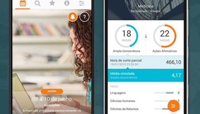 O aplicativo pode ser baixado gratuitamente. Foto: Página do Sisu