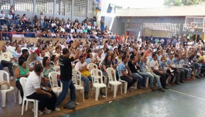Servidores de mais de 80 comarcas baianas participaram da assembleia. Foto: Sinpojud