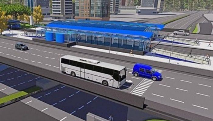 Sistema BRT em Feira de Santana terá 9,5 quilômetros de vias expressas. Imagem: Divulgação