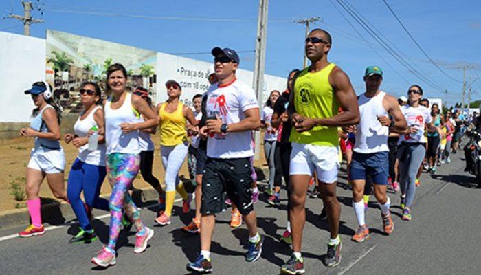 A abertura do evento foi marcada pela realização do 5º Corridão STOP.  (Foto: Reprodução / Rafael Gusmão )