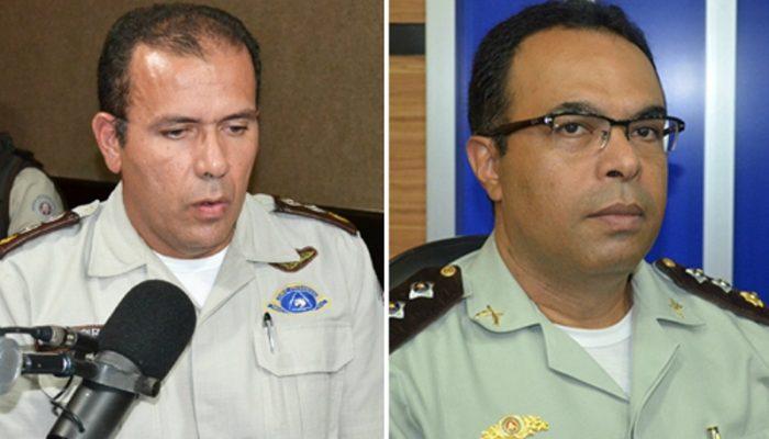 Major Souza Junior e Major Selmo Luis (Foto: Reprodução)