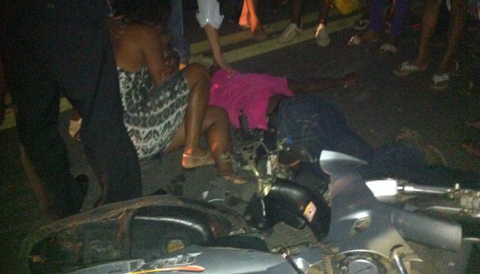 acidente em Cruz