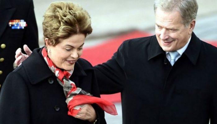 Pontos em comum entre campanhas suspeitas de Dilma e Niinistö geraram piadas na imprensa finlandesa. Foto: Reprodução/BBC Brasil