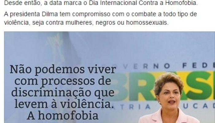homofobia - Dilma