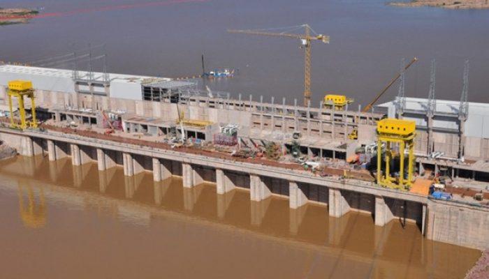 Usina Jirau está instalada no Rio Madeira, em Rondônia (Foto: Divulgação/ESBR)