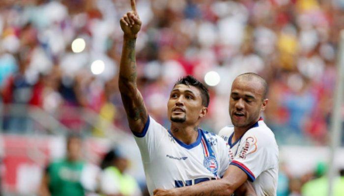 Kieza marcou o único gol da partida e garantiu o triunfo tricolor. Foto: Felipe Oliveira/ECBahia