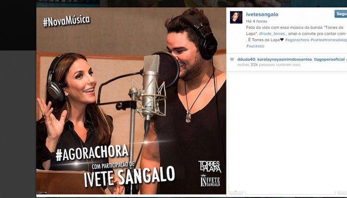Reprodução do Instragram de Ivete Sangalo